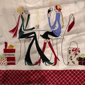 Talbots Girlfriends Christmas Silk Scarf
